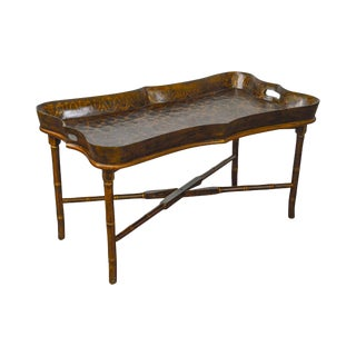 Maitland Smith Faux Painted Tray Top Coffee Table