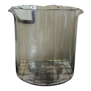 Large Recycle Hand Blown Glass Jar