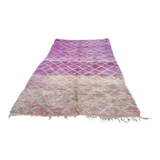 1970s Vintage Beni Ouarian Moroccan Rug - 6′7″ × 10′ For Sale