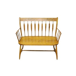 Late 20th Century Vintage Nichols & Stone Hitchcock Style Maple Settee For Sale
