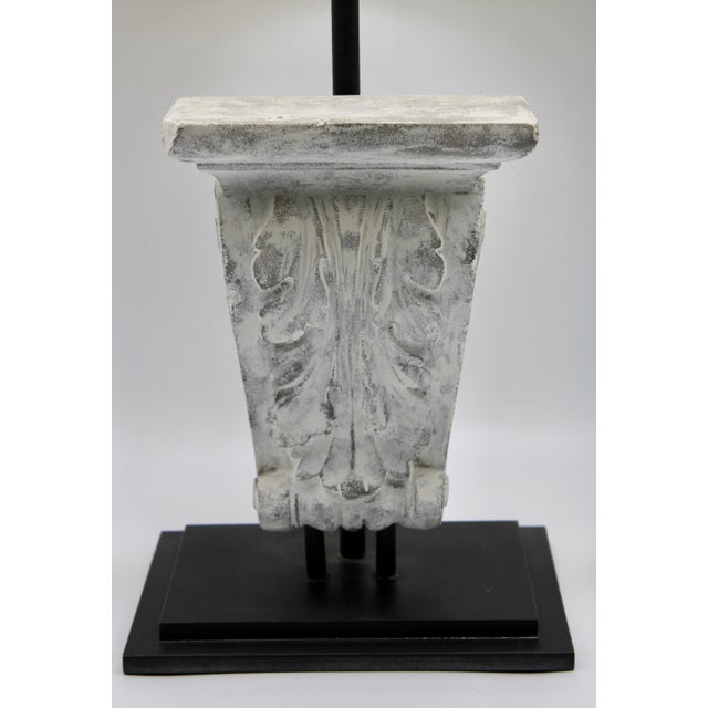 Modern Architectural Restoration Hardware Style Corbel Lamp For Sale - Image 3 of 13
