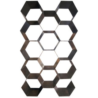 Bee Hive Bookcase, Black Metal For Sale
