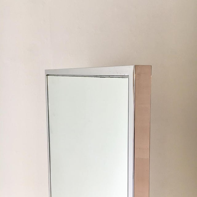 Chrome Framed Floor Standing Mirror 1970s For Sale - Image 4 of 6