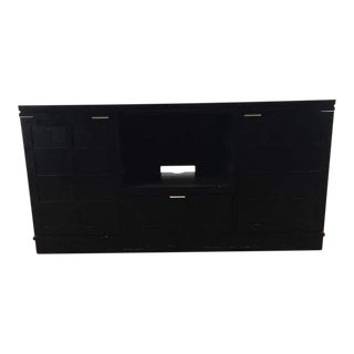 Crate & Barrel Contemporary Black Entertainment Center