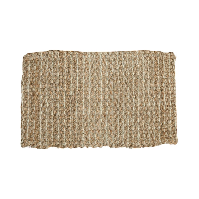 """Hand Braided Beige Entrance Mat - 2' X 3'2"""" - Image 1 of 2"""