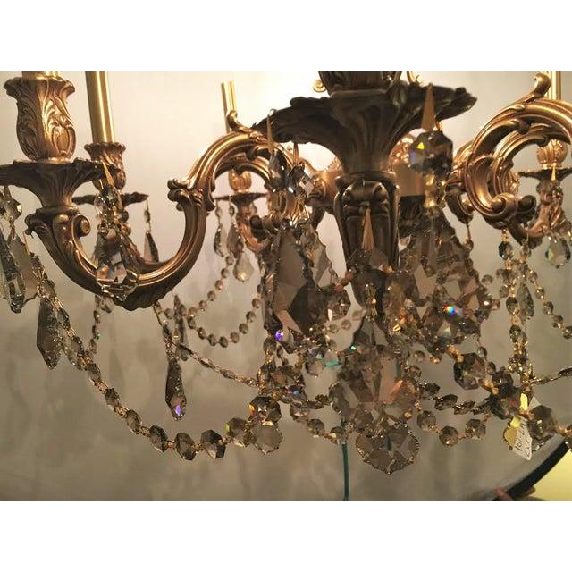 French Swarovski Crystal Chandelier For Sale - Image 7 of 7