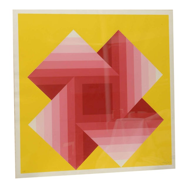 Gorgeous Serigraph by Herbert Bayer, Austria, 1973 For Sale