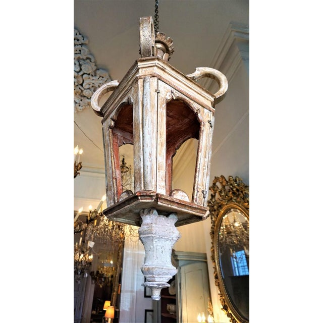 This Italian style lantern is made out of old fragments from all over Europe. 21 St century made in the south of France....