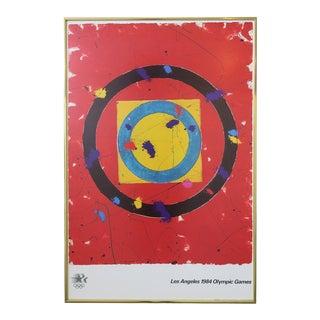 Sam Francis 1984 Olympic Poster, Framed For Sale