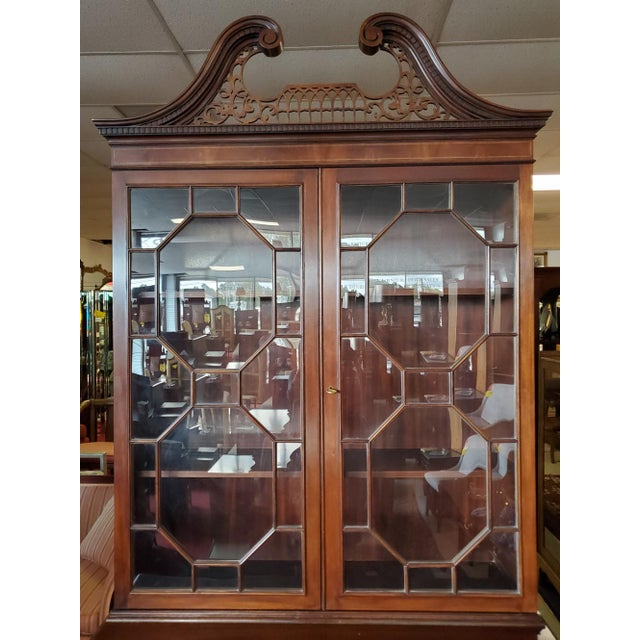 Brown Baker Mahogany Collector's Edition Bookcase Secretary For Sale - Image 8 of 11