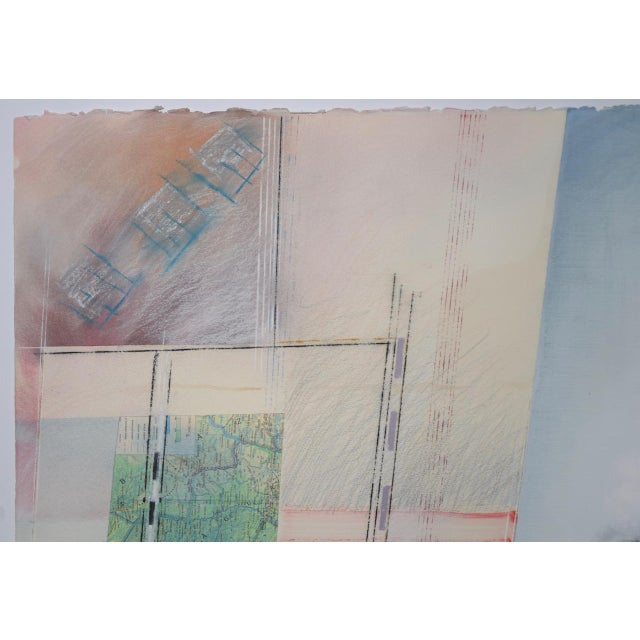 1980s Abstract Mixed Media Painting by Fuentes, 20th C. For Sale - Image 5 of 11