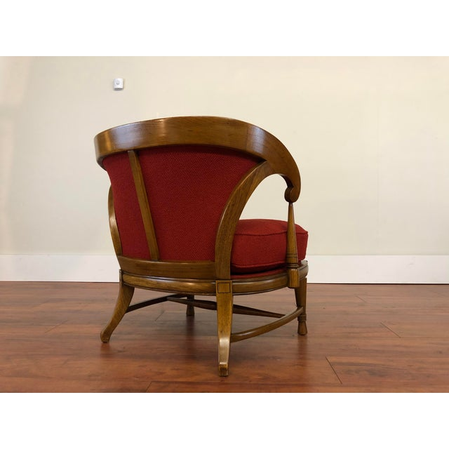 Wood Tomlinson Sophisticate Vintage Occasional Chair For Sale - Image 7 of 13