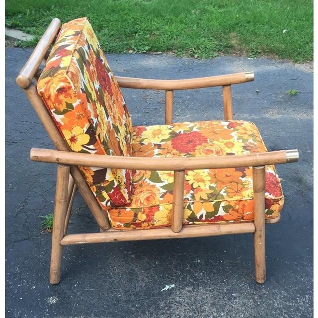 Boho Chic John Wisner for Ficks Reed Rattan Chair For Sale - Image 3 of 5