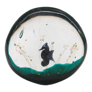 1990s Murano Glass Seahorse Paperweight For Sale