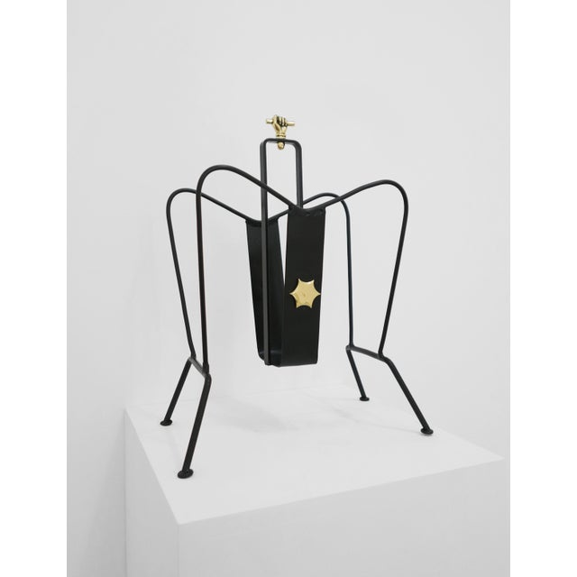 Art Deco Jacques Adnet Magazine Stand C. 1940 - 1949 For Sale - Image 3 of 6