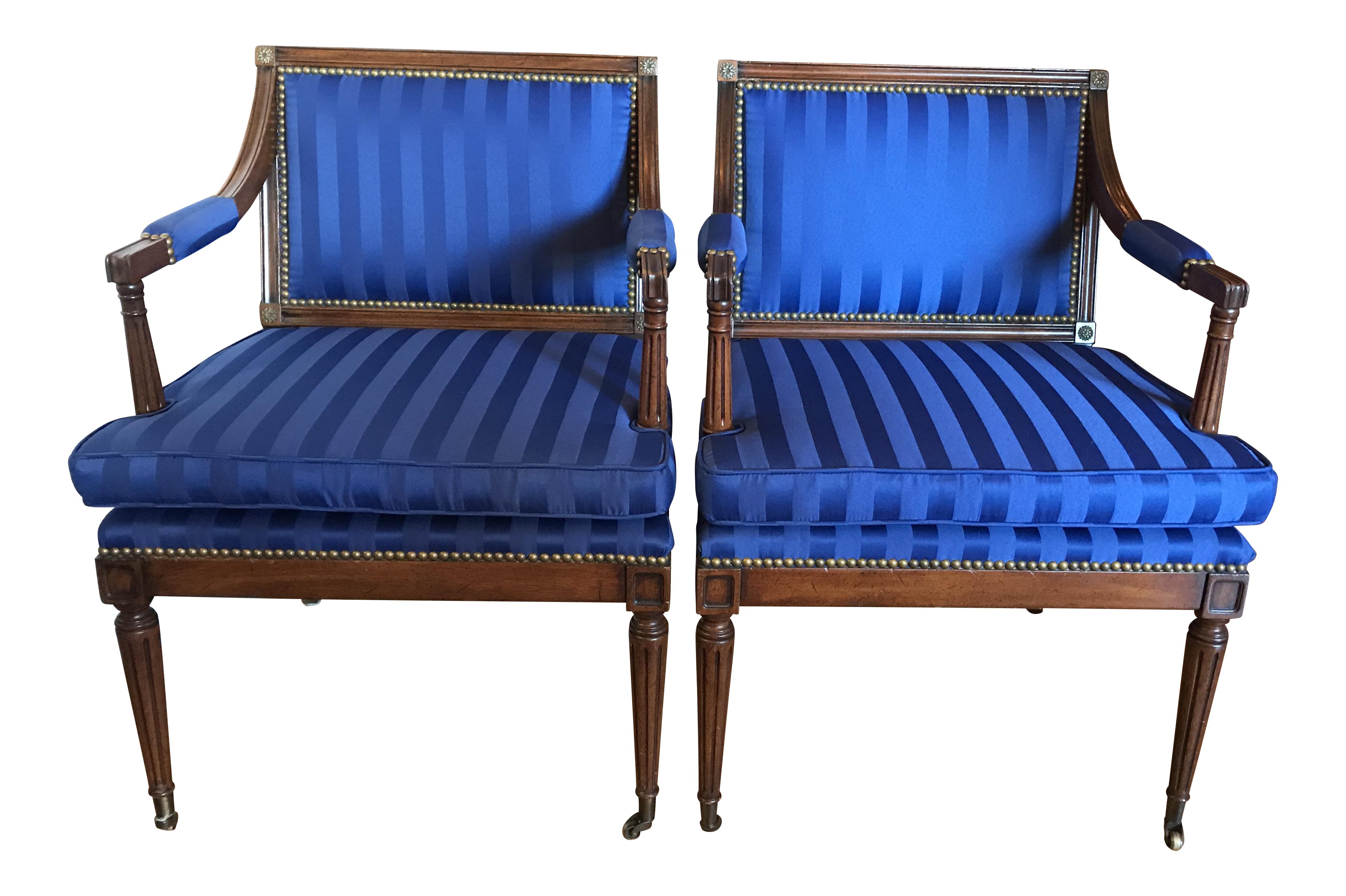 Baker Sheraton Regency Style Chairs  A Pair For Sale Regency Style Furniture3