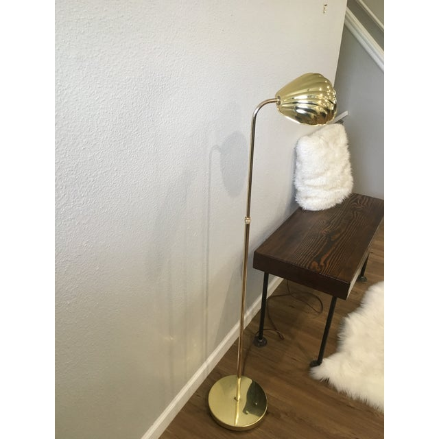 Vintage Brass Shell Floor Lamp For Sale - Image 4 of 8