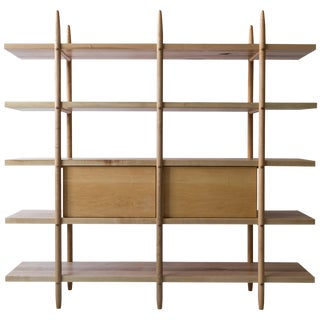 Deepstep Shelving, Modular Storage With Wood Detailing For Sale