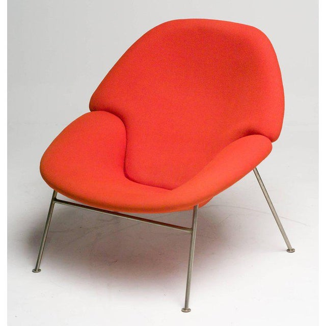 Cotton Pierre Paulin F555 Lounge Chair For Sale - Image 7 of 8