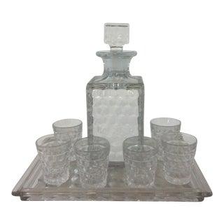 Fostoria Carafe & Glass Bar Set - 8 Pc. For Sale