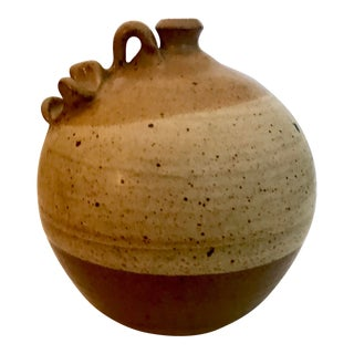 1970s Boho Chic Thomas Reece Studio Pottery Jug For Sale