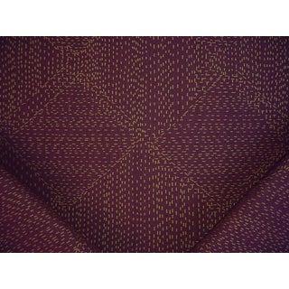 Donghia 10031 Sashiko Nasu Strie Stripe Polka Dot Drapery Upholstery Fabric - 4y For Sale