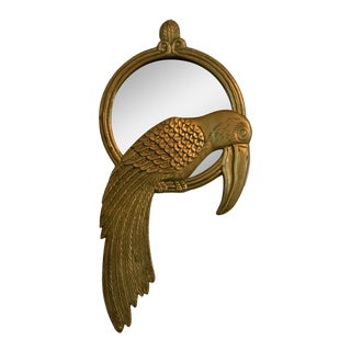 Brass Toucan Mirror For Sale