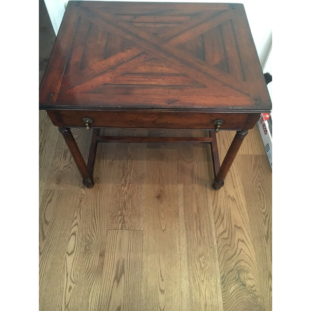 Traditional Traditional Wood Side Table For Sale - Image 3 of 4