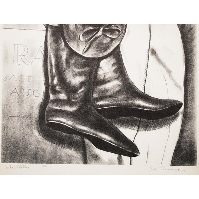"""1939 """"Jockey Clothes"""" by Lee Townsend, Original Period Lithograph For Sale - Image 4 of 11"""