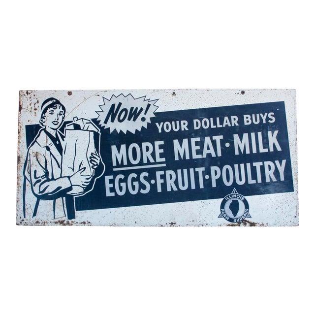 XL 1950's Metal advertising sign - Image 1 of 2