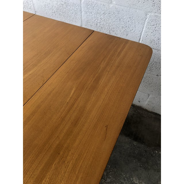 Wood Vintage Mid Century Modern Expanding Dining Table by Edward Wormley for Drexel Furniture For Sale - Image 7 of 13