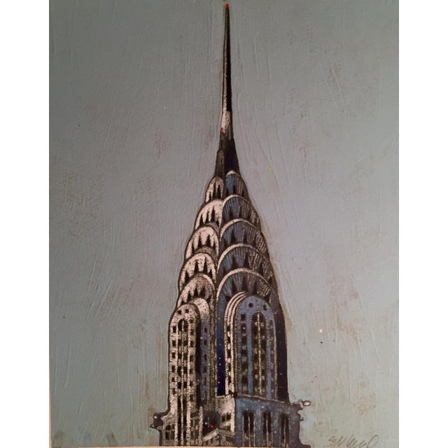 Chrysler Building Watercolor - Image 1 of 2