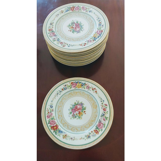 Vintage Early 19th Century Charles Ahrenfeldt Limoges Service Plates - 12 Pieces For Sale In Pittsburgh - Image 6 of 6
