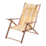 Image of Tommy Outdoor Chair - Vintage Yellow Stripe For Sale