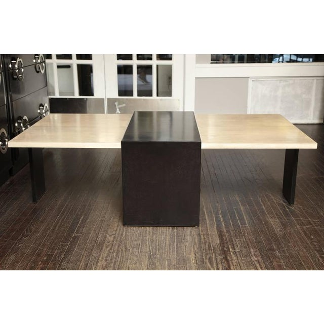 Custom Goatskin Two-Tone Cocktail Table For Sale - Image 10 of 10