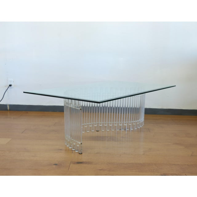 Contemporary Vintage Lucite Coffee Table For Sale In Los Angeles - Image 6 of 10