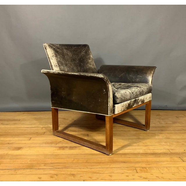 Pair of Danish 1960s Faded Black Leather Lounge Chairs For Sale - Image 10 of 13