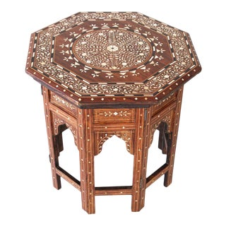 Octagonal Anglo Indian Side Tea Table For Sale