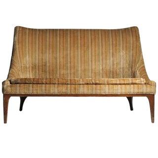 Designer Lawrence Peabody Vintage Loveseat Sofa For Sale