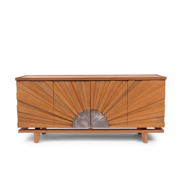Silver R. Mapache Signed Sunburst Sideboard For Sale - Image 8 of 8