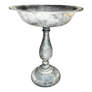 Tall Lead Garden Compote / Fruit Bowl For Sale