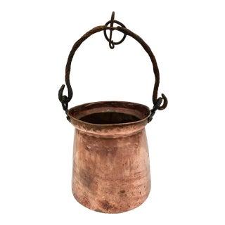 Vintage Copper Hanging Planter For Sale