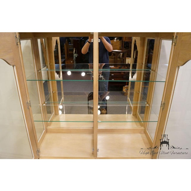Late 20th Century Stanley Furniture Country French Blonde Display China Cabinet For Sale - Image 5 of 13