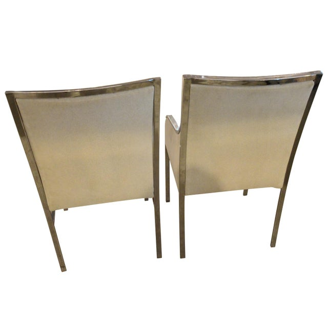 S/6 Mid Century Modern Chrome and Upholstery Pierre Cardin Dining Chairs / Side Chairs - Image 11 of 12