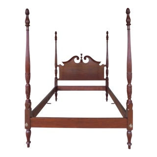 Craftique Chippendale Style Mahogany Full Size Poster Bed For Sale