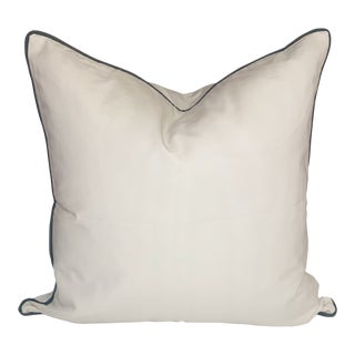 Travers Bosque Moire Pillow With Patina Trimming For Sale