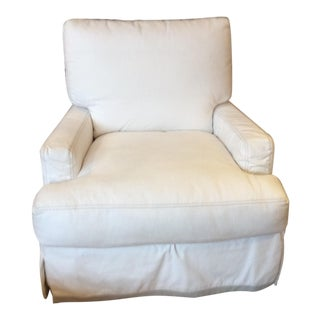 Modern Lee Industries Swivel Club Chair For Sale