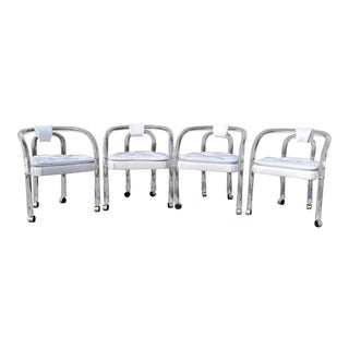 Vintage Mid Century Modern George Hollis Jones Lucite Dining Chairs- Set of 4 For Sale