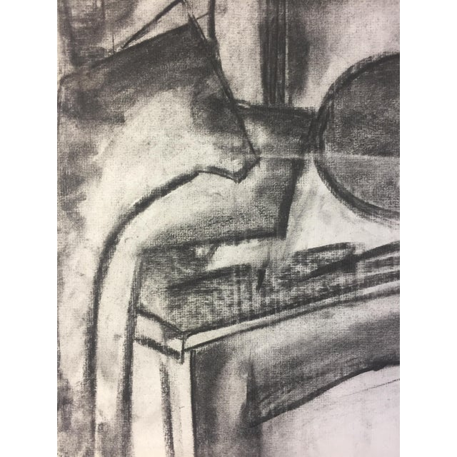 1950s Henry Woon Mid Century Charcoal Still Life For Sale - Image 4 of 7