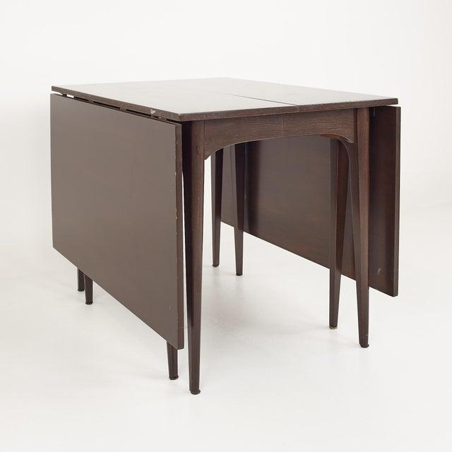 Kroehler Refinished Mid Century Drop Leaf Dining Table For Sale - Image 12 of 12